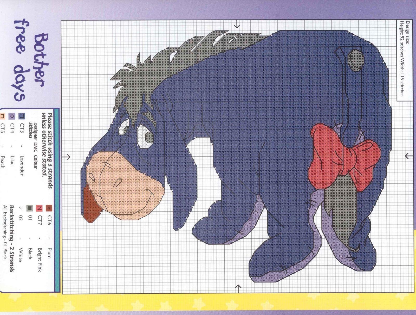 Схемы для вышивания ослик