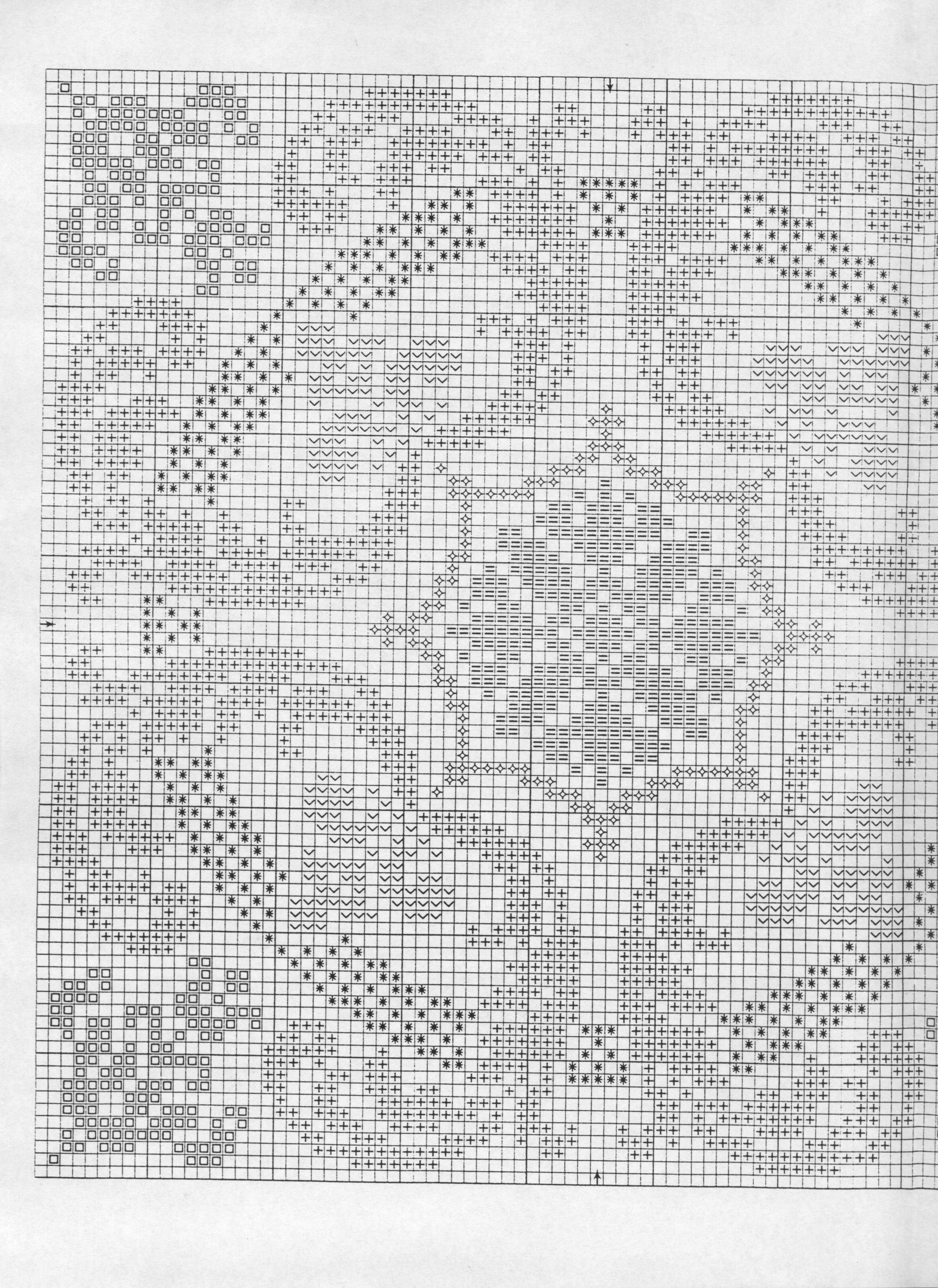 Меланж схема для вышивки 46