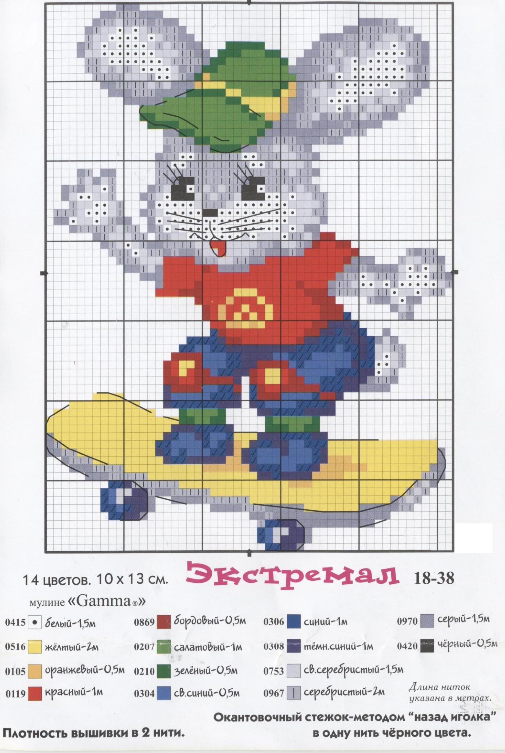 Схемы для вышивки крестом 15х20