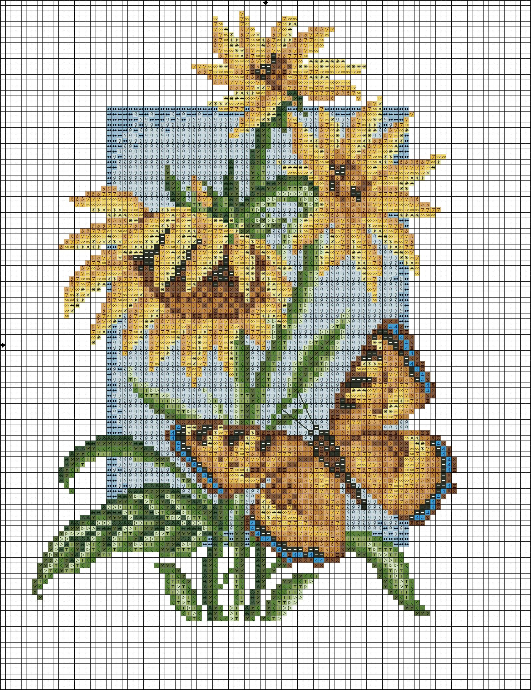 Бабочка шоколадница вышивка схема 98