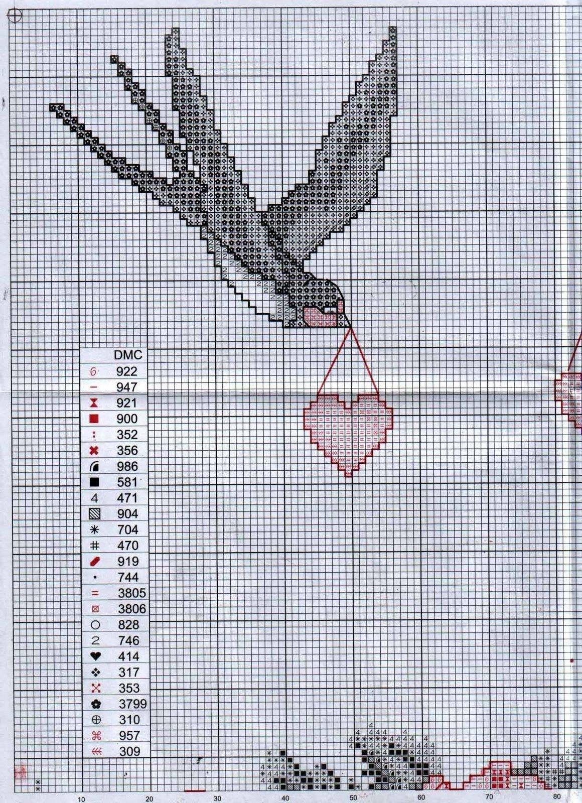 Ласточка схема вышивки 79