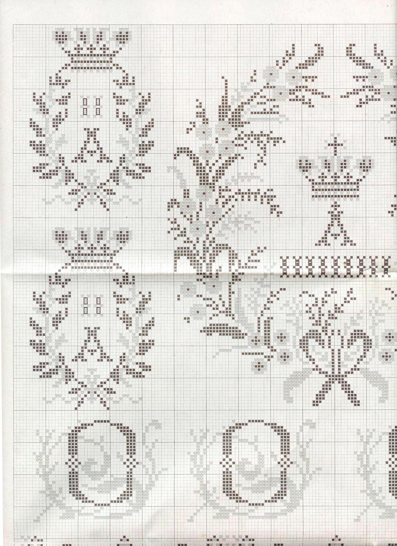 Схема вышивки крестом для свадебного рушника под ноги 82