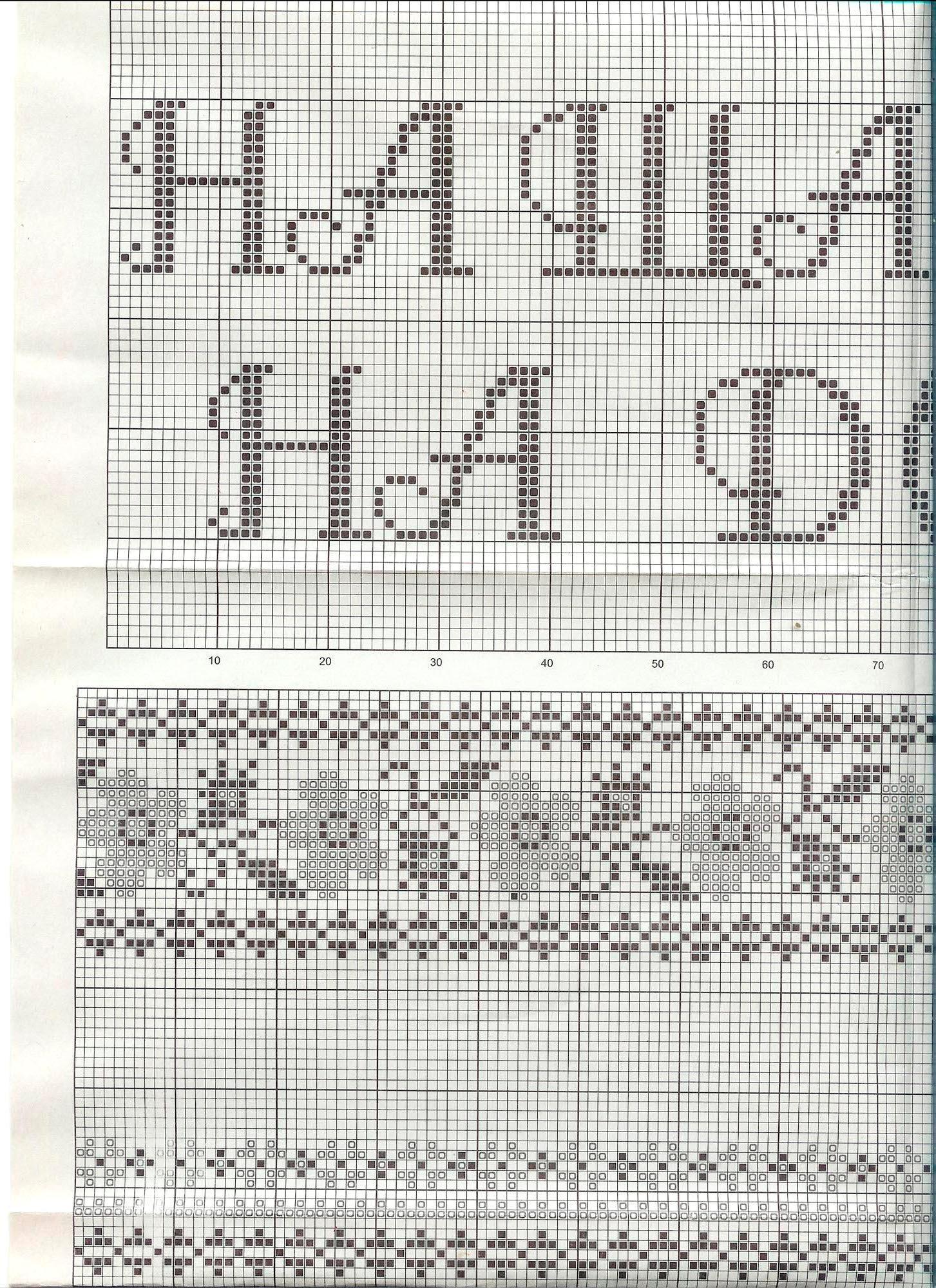 Схемы вышивок крестом средние