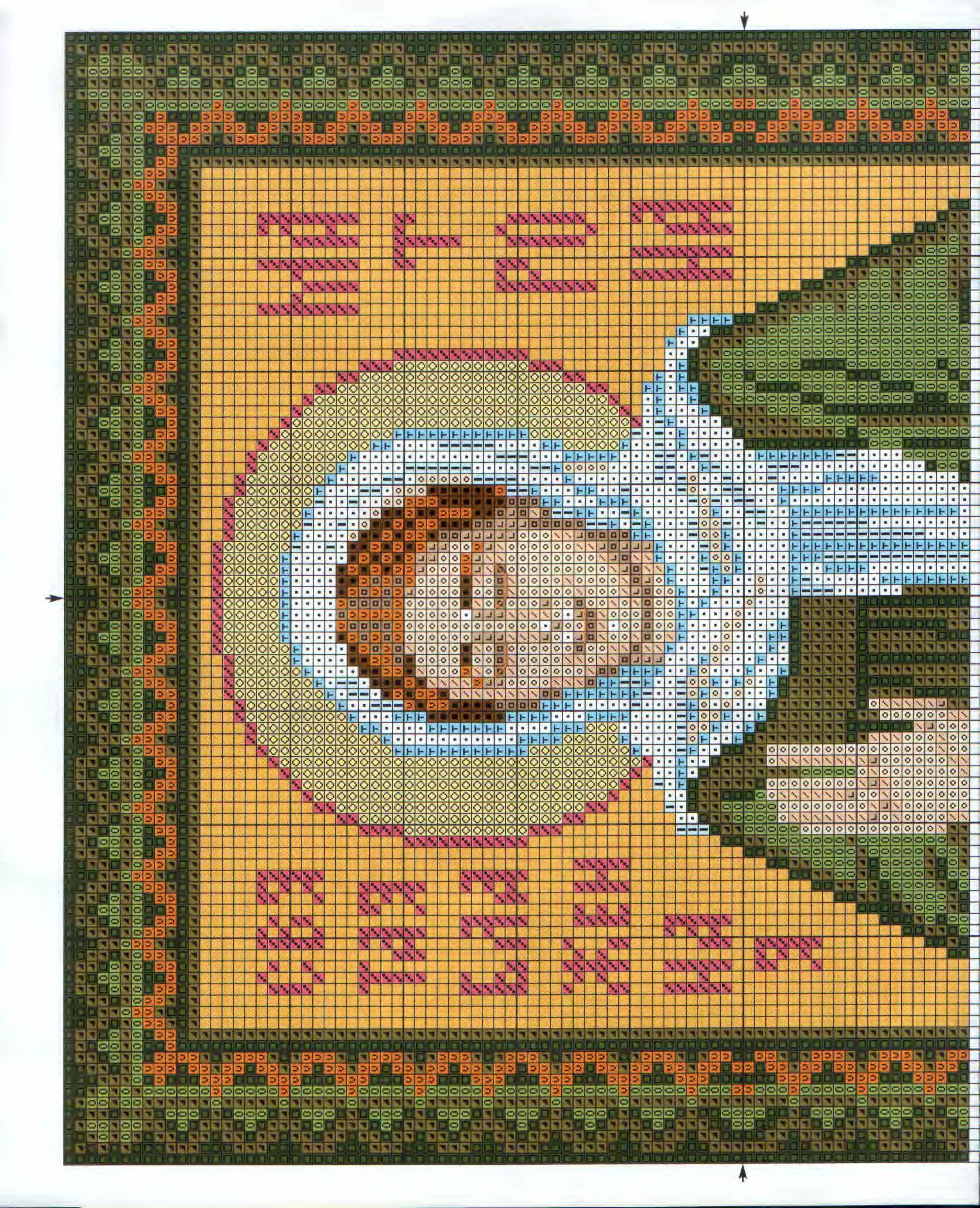 Схему вышивки крестом икон 89