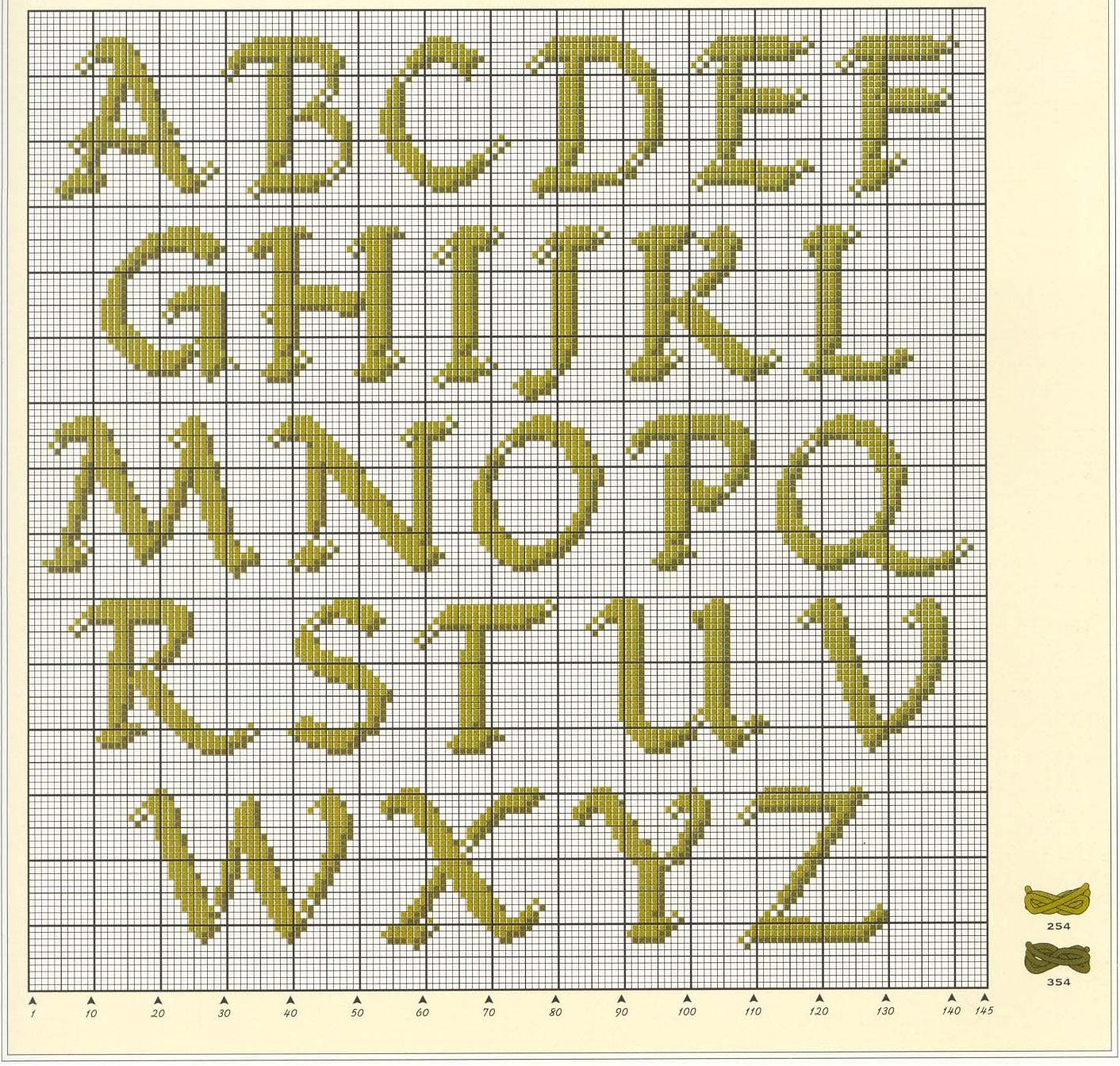 Алфавит вышивка крестом схемы 14