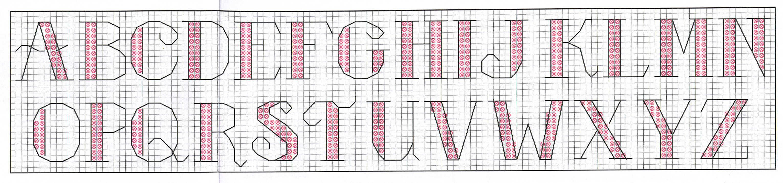 Алфавит вышивка крестом схемы 58