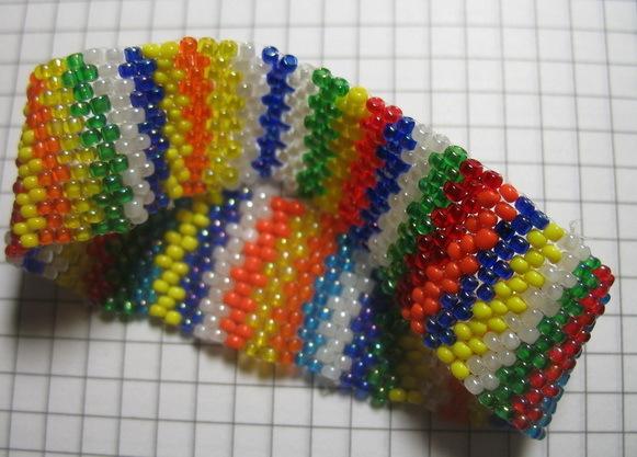 Плетение бисером. схема плетения бисером.