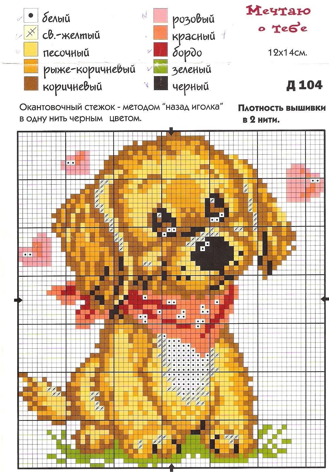 Вышиванием крестиком картинки со схемами