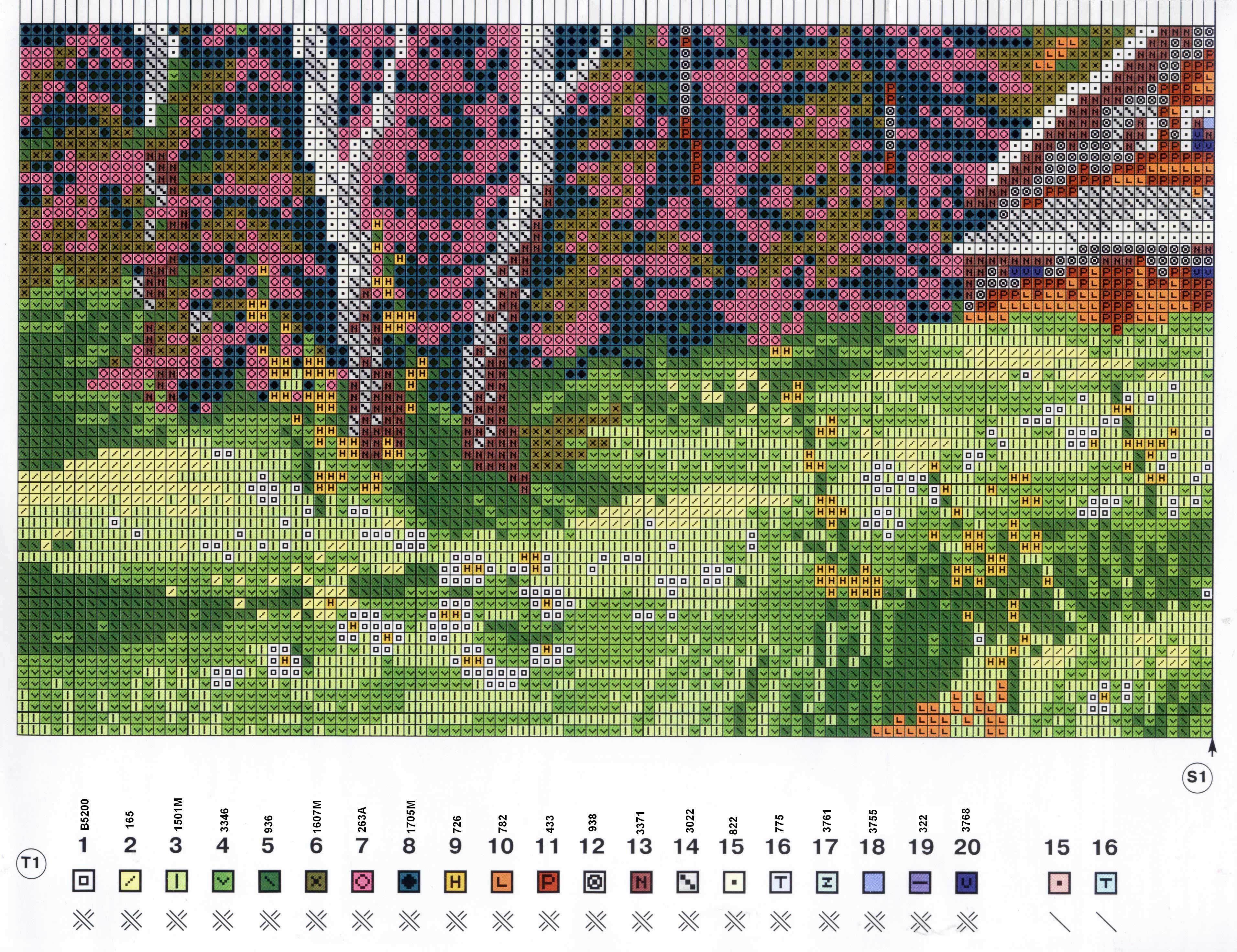 Домик в лесу - Схемы и наборы вышивки бисером крестом 64