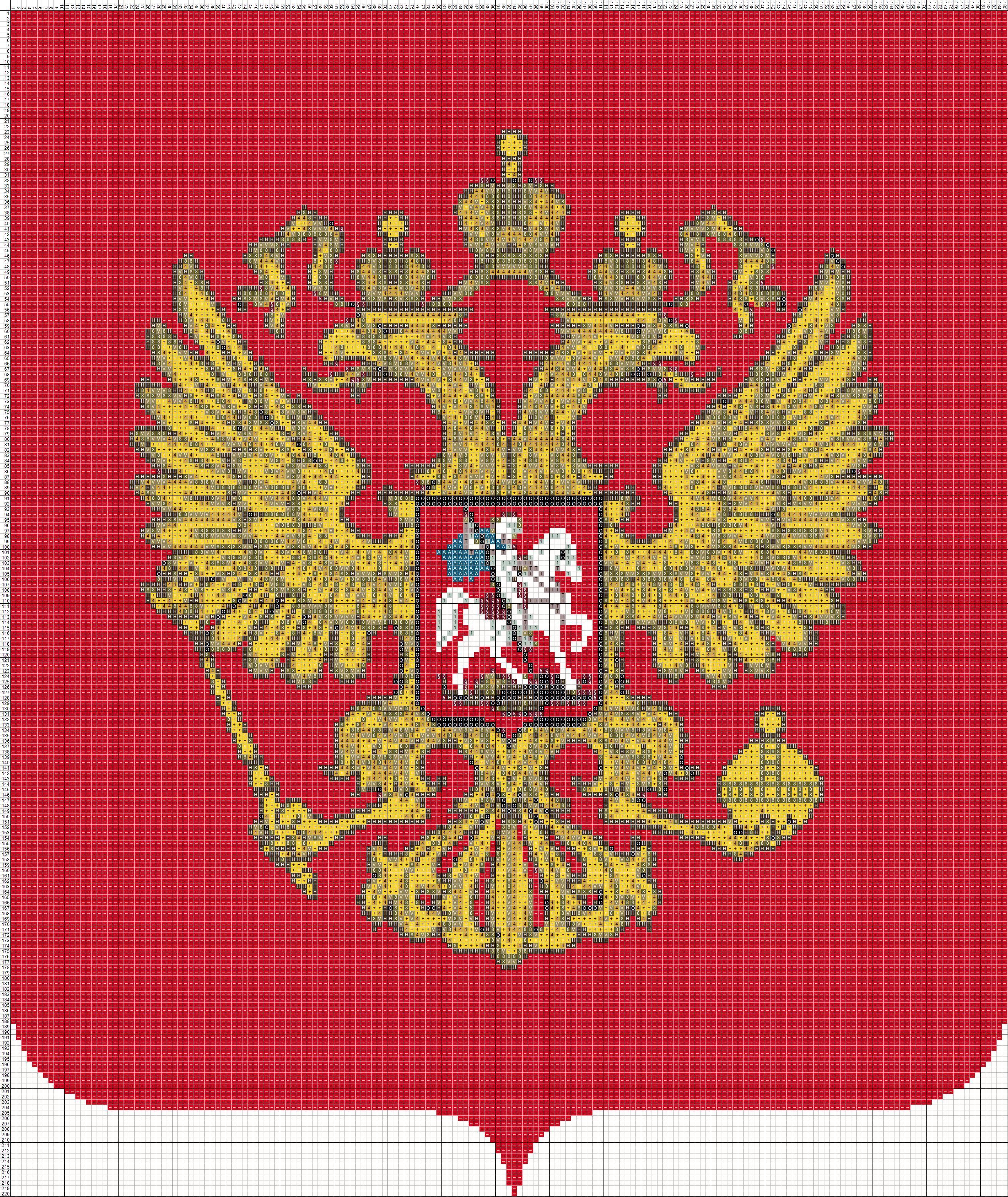 Герб россии-схема вышивки крестом