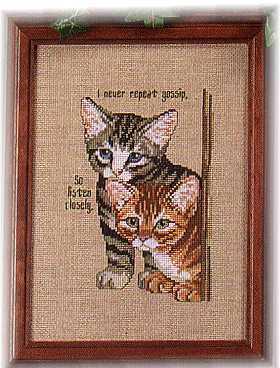 Схема вышивания крестом - Любопытные котята