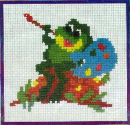 вышивка крестом лягушка, Рхема.