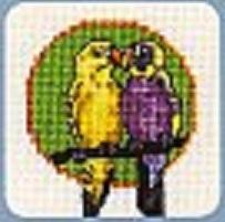 Схема вышивания крестом - Попугаи