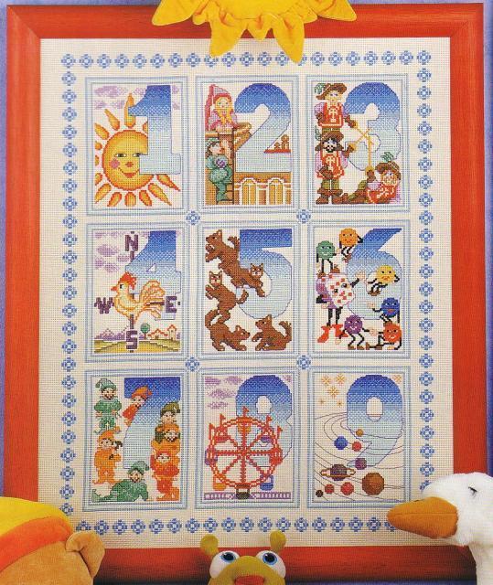 Схема вышивания крестом - Цифры с картинками