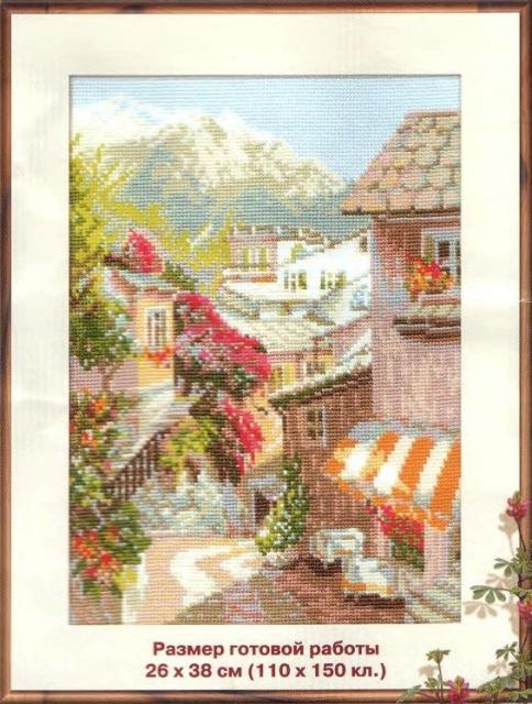 Схема для вышивки итальянский дворик