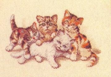 Схема вышивания крестом - Котята