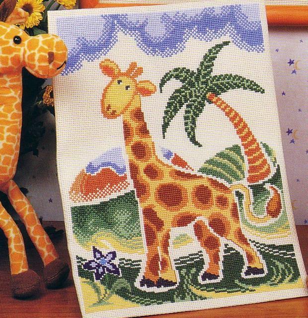 Схема вышивания крестом - Жираф