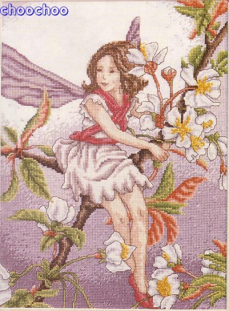 Схема вышивания крестом - Фея