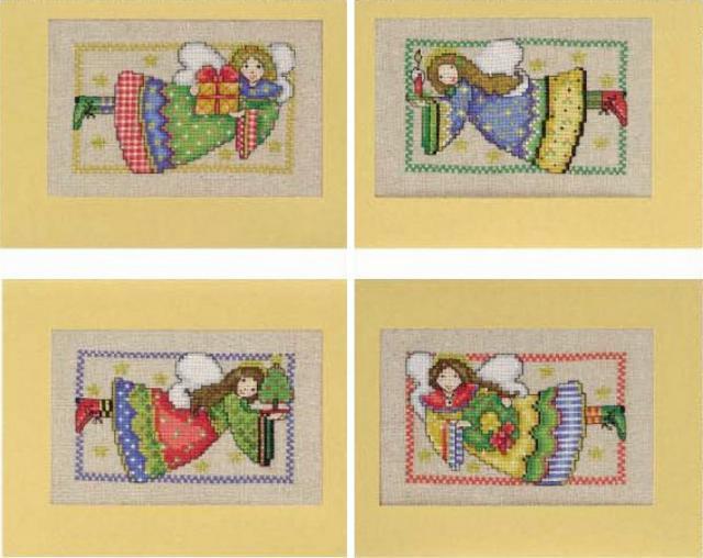 Схема вышивания крестом - Открытки Ангелочки