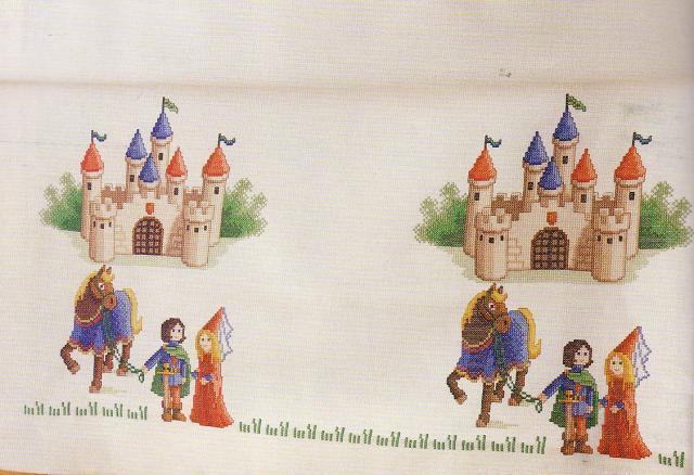 Схема вышивания крестом - Рыцарский замок