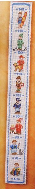 Схема вышивания крестом - Ростомер для мальчика