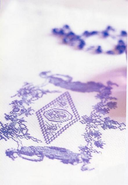 Схема вышивания крестом - Узор, Гжель