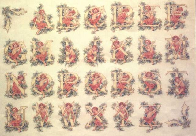 Схема вышивания - Английские