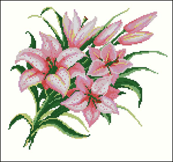 водяная лилия вышивка гипс
