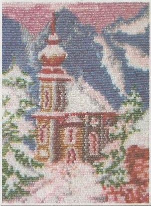 Схема вышивания бисером - Зима в городе