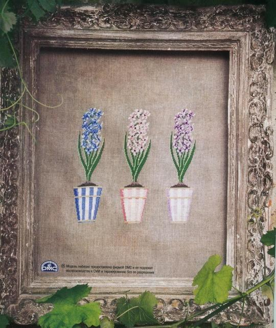Схема вышивания крестом - Цветы апреля