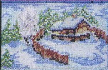 Схема вышивания бисером - Лесная сторожка