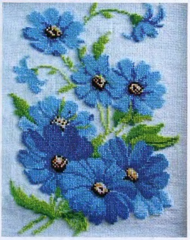 вышивка гладью схемы цветы