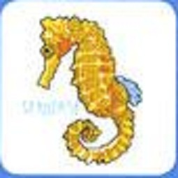 Схема вышивания крестом - Морской конёк