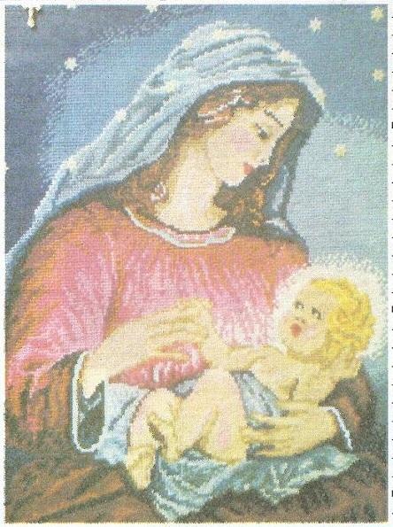 Схема вышивания бисером - Святая Мария
