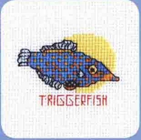 Схема вышивания крестом - Рыбка