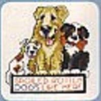 Схема вышивания крестом - Собаки