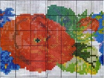 Схема вышивания бисером - Красная роза
