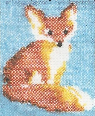 Схема вышивания бисером - Лиса