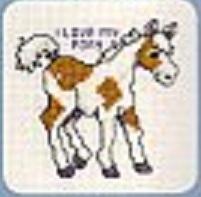 Схема вышивания крестом - Пони
