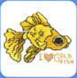 Схема вышивания крестом - Золотая рыбка