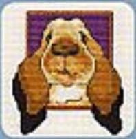 Схема вышивания крестом - Большой кролик