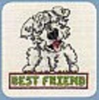 Схема вышивания крестом - Собака лучший друг