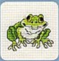 Схема вышивания крестом - Лягушка