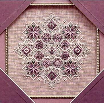 Схема вышивания крестом - Снежинки