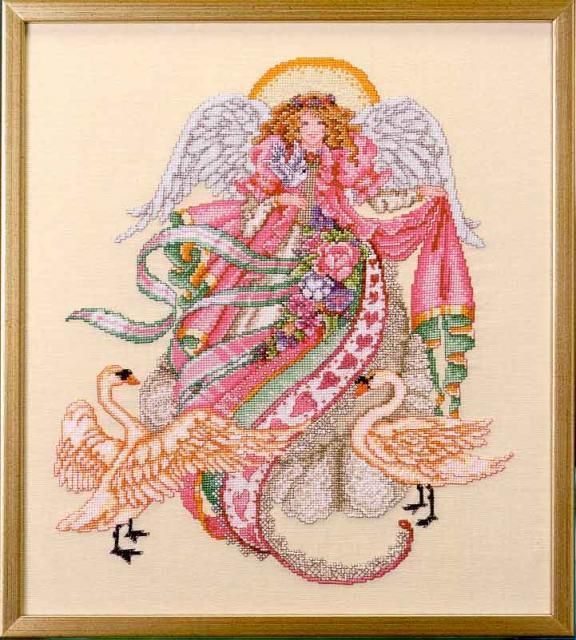 Схема вышивания крестом - Ангел романтики