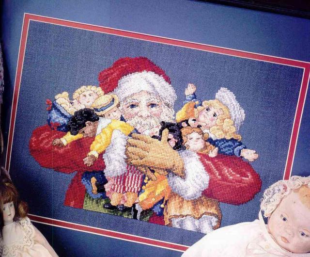 Схема вышивания крестом - Санта Клаус