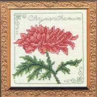 Схема вышивания крестом - Хризантема