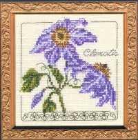 Схема вышивания крестом - Клематис
