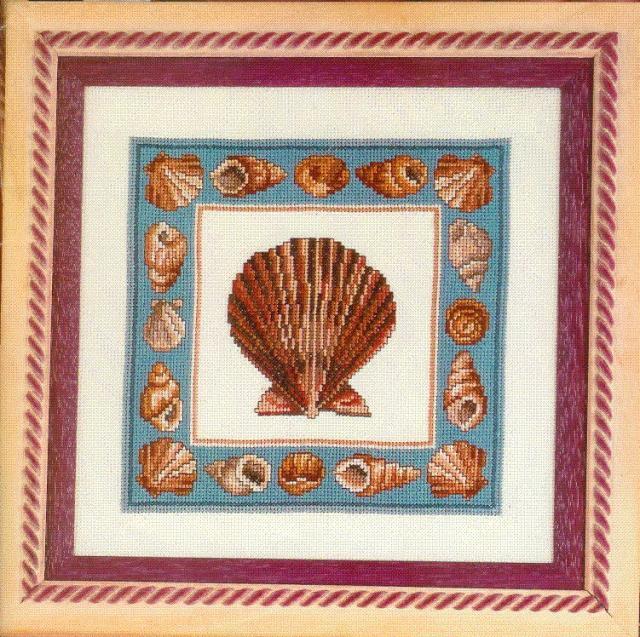 Схема вышивания крестом - Ракушка