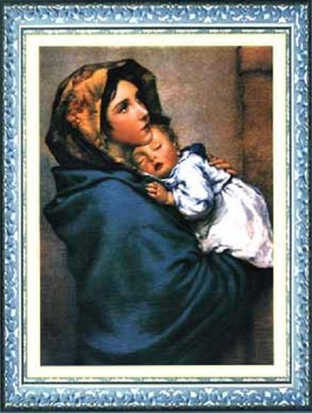 Схема вышивания крестом - С младенцем